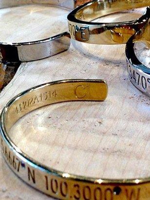 Rosegold Coordinates Legend Bracelet In Gold