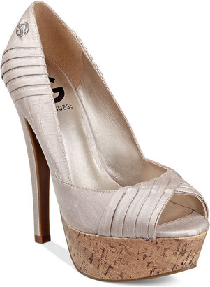 G by Guess Women's Shoes, Thriller Platform Pumps
