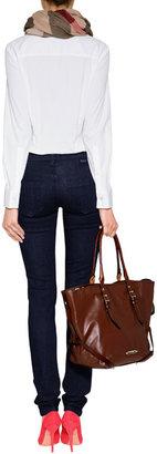 Burberry Stretch Cotton Kensington Jeans in Dark Indigo