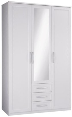 Oslo 3-door, 3-drawer Mirrored Wardrobe