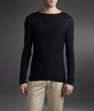Emporio Armani Sweater In Shaved Plain Rib