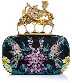 Alexander McQueen Hummingbird Knucklebox clutch