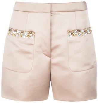 The Box Boutique Crystal embellished shorts
