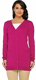 Liz Claiborne New York Boyfriend Cardigan with Pockets $39.89 thestylecure.com