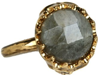 House Of Harlow Stone Top Skull Cocktail Ring (14K Yellow Gold Plated) - Jewelry