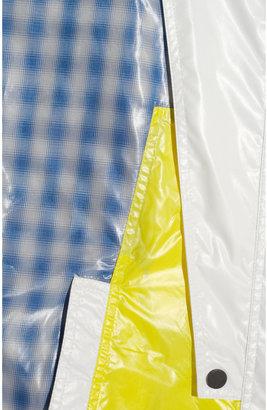 Alexander Wang Color-block and plaid patchwork windbreaker