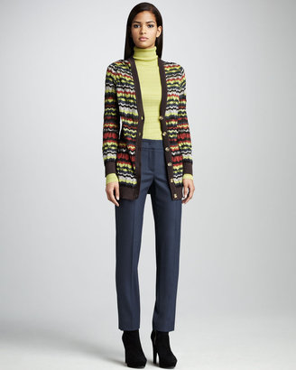 M Missoni Woven Straight-Leg Pants
