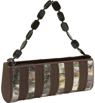 Global Elements Striped Shell & Silk Handbag