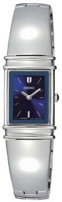 Seiko Women's SUJG09 Jewelry Silver-Tone Bangle Blue Dial Watch $175 thestylecure.com