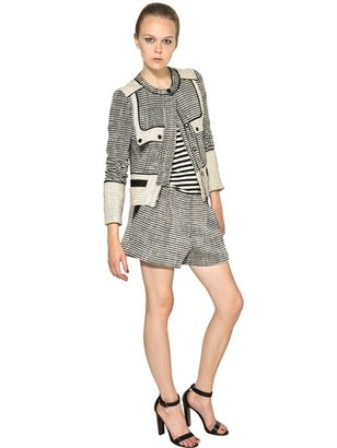 Proenza Schouler Cotton Tweed Shorts
