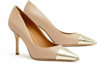 Tory Burch PENELOPE METALLIC CAP-TOE PUMP