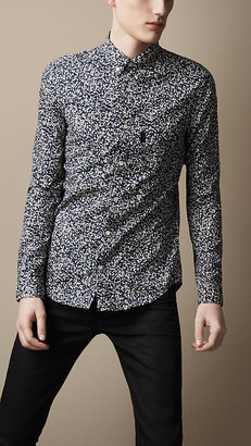 Burberry Button-Down Floral Shirt