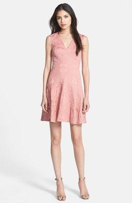 Rebecca Taylor Stretch Brocade A-Line Dress