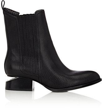 Alexander Wang Women's Metal Cutout-Heel Anouck Jodhpur Boots-BLACK $595 thestylecure.com