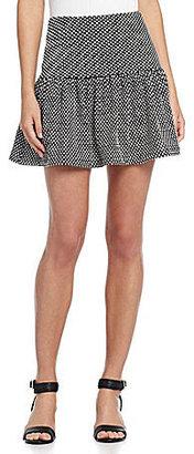 Collective Concepts Polka-Dot Mini Circle Skirt