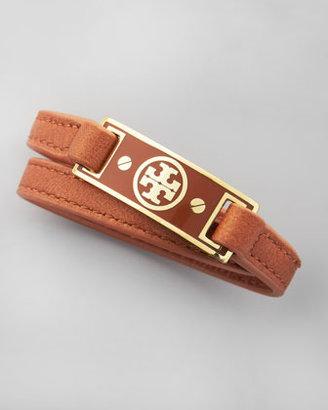 Tory Burch Logo Wrap Bracelet, Brown