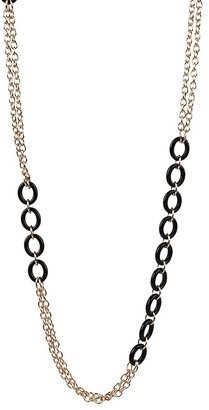 Lori's Shoes Black and Gold Chain Necklace
