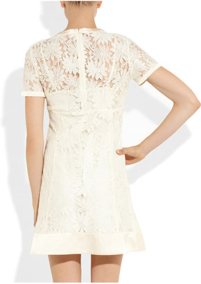 Marc by Marc Jacobs Lily satin-trimmed lace dress
