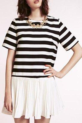 Dahlia Monochrome Pleated Dress