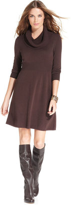 Spense Petite Dress, Three-Quarter-Sleeve Cowl-Neck Sweater