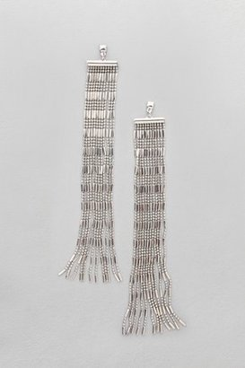 French Connection Statement Fringed Earrings