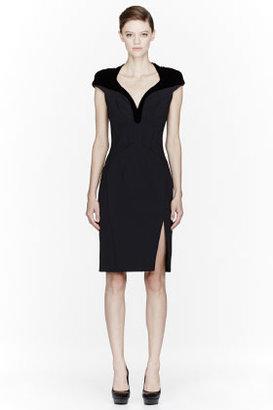 Altuzarra Black contrast-yoke Tribeca Dress