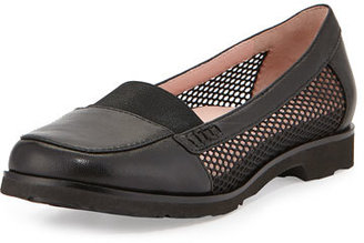 Taryn Rose Jac Mesh and Leather Loafer, Black $229 thestylecure.com