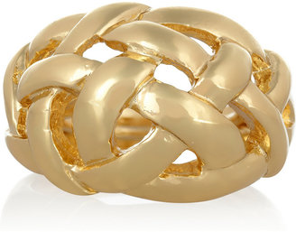 Kenneth Jay Lane Gold-plated weave ring