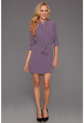 Juicy Couture Corcisa Tile Dress (Dark Orchid Corsica) - Apparel
