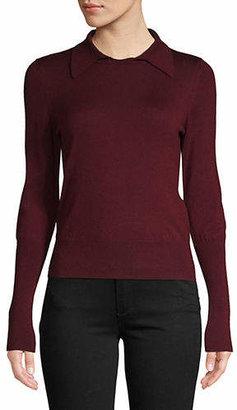 Diane von Furstenberg Long-Sleeve Polo Sweater