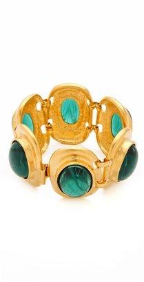 Kenneth Jay Lane Flawed Emerald Cabochon Bracelet
