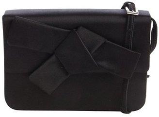 Prada black satin bow mini shoulder bag