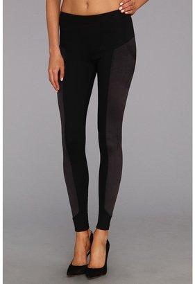 C&C California Ponte Legging w/Suede Pant (Black) - Apparel