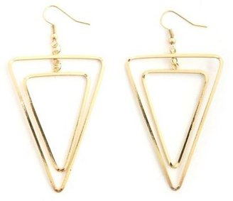Charlotte Russe Layered Triangle Dangle Earrings