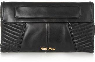 Miu Miu Biker quilted leather shoulder bag