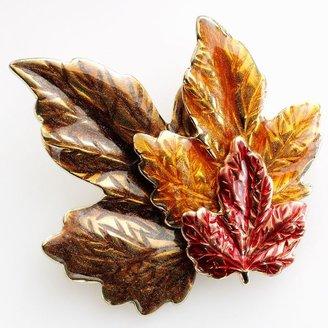 Croft & barrow® gold tone leaf pin