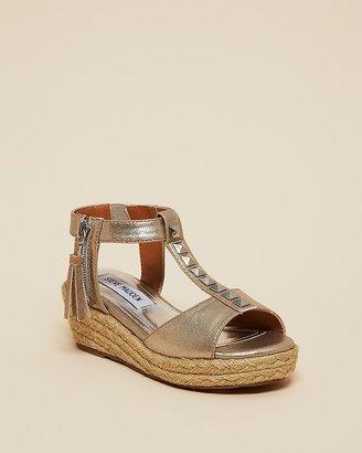 Steve Madden Girls' Metallic Studded Wedge Sandals - Little Kid, Big Kid