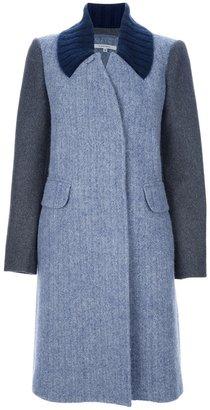 Carven tri-colour overcoat