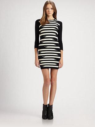 Gryphon Broken Stripe Sweaterdress