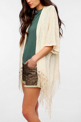 Urban Outfitters Staring At Stars Dolman Fringe Cardigan