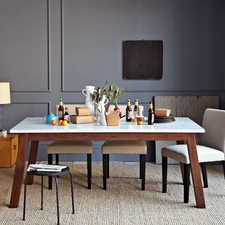 west elm Solid Wood Table w/ Marble Top
