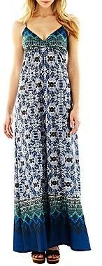 JCPenney Print Maxi Dress