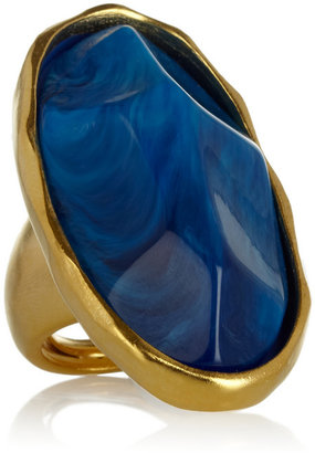 Kenneth Jay Lane Gold-plated resin ring