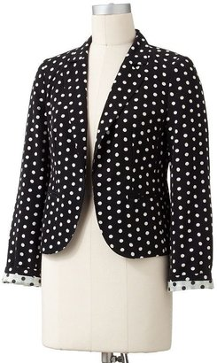 Lauren Conrad polka-dot blazer