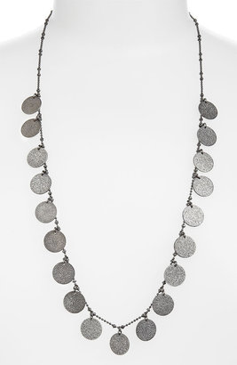 Nordstrom Long Textured Disc Necklace