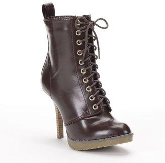 Sugar skyline combat high heel ankle boots - women