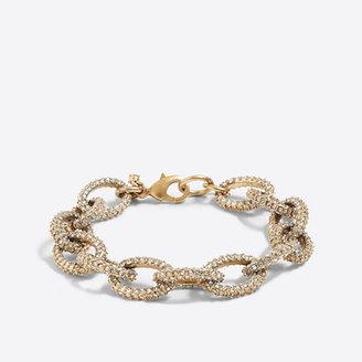 J.Crew Factory Gold and crystal link bracelet