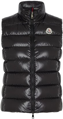 Moncler Ghany Black Quilted Shell Gilet
