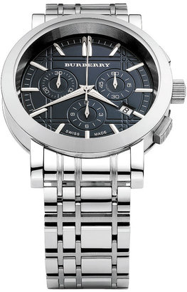 Burberry Timepieces Round Stainless Steel Bracelet Watch