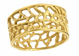 Catherine Weitzman Gold Coral Reef Ring